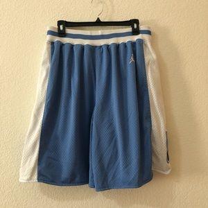 🏀Jordan Blue and White North Carolina Shorts